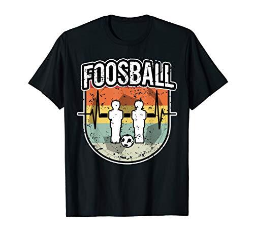 Tischkicker Tischfußball Figuren Foosball Vintage T-Shirt