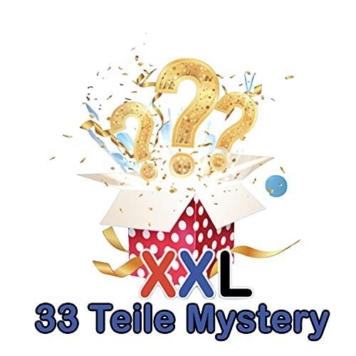 HappyLOL® XXL 33 Teile Mystery Box Süßigkeiten aus aller Welt USA, UK, Asien & Co.- Amerikanische Süssigkeiten Box Großpackung - Candy Box inkl. amerikanische Getränke
