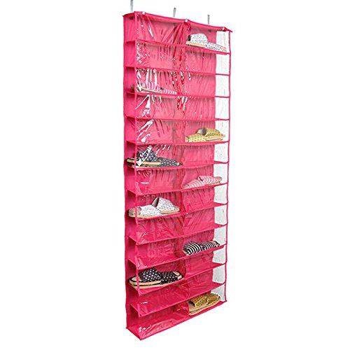 WINOMO Schuhe-Aufbewahrungstasche Hängeorganizer Tür-Schuhregal Regal über dem Schuh Organisatoren Tür Regal hängen hängen 26 Gitter