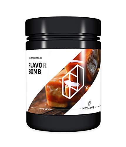 Neosupps Flavor Bomb Strong Caramel| Geschmackspulver | Flavor Powder | Taste | Sweets | Snack | Mahlzeitenersatz | Shake | Protein | Abnehmen und Diät, Geschmack:Strong Caramel