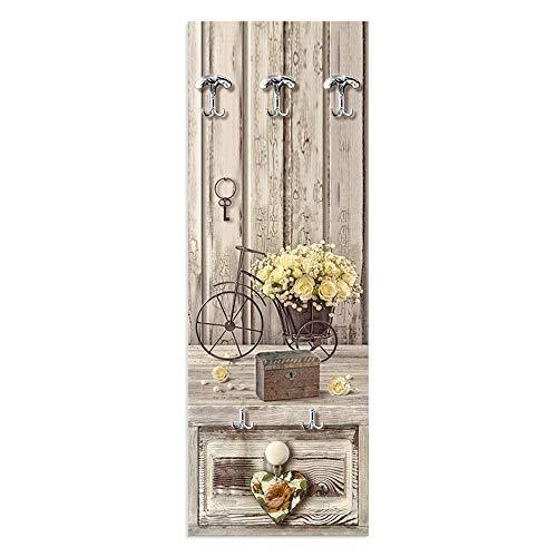 Lupia Appendiabiti da Parete 49X139 cm Yellow Roses