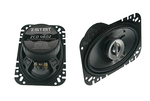 ZSTAT ZCD4602-50 Watts - 4x6-Inch Car Speakers