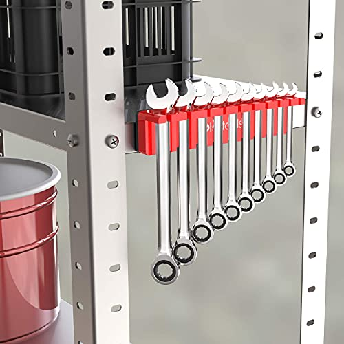 """Olsa Tools Magnetic Wrench Organizer (Red) 