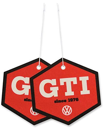 BRISA VW Collection - Volkswagen GTI Golf Luft-Erfrischer, Duft-Spender, Duft-Baum fürs Auto/KFZ (Kokos/2ER Set)