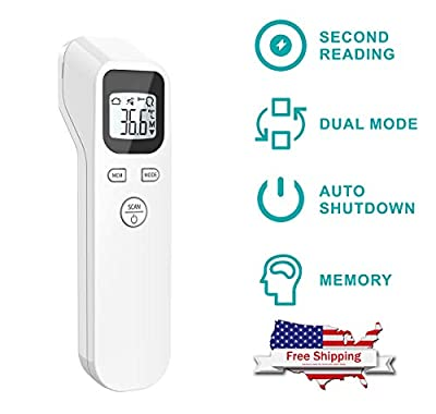 Dermapeel Digital Infrared Forehead Thermometer Non-Contact Digital Thermometer with Fever Alert Function, Digital Medical Infrared Thermometer for Baby and Adults