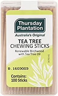 Thursday Plantation Tea Tree Chewing Sticks, Naturally-Sourced Flavors, Contains 100 Sticks (Pack of 3)