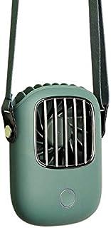FJ【2020最新夏対策】省エネ 首掛け扇風機 冷感携帯扇風機 USB充電式 静音扇風機 小型 ミニ扇風機 強力1800mAhミニ扇風機 風量3段階調節 /パワーバンクとして使用可/屋外作業 熱中症対策(緑)