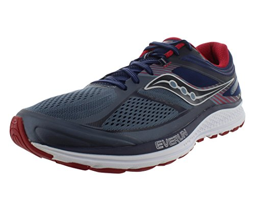 Saucony Men's Guide 10 Running Shoes, Grey Navy, 11.5 D(M) US