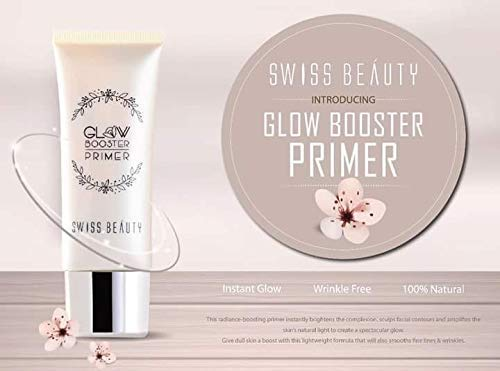 Swiss Beauty Professional Glow Booster Primer Radiant Finish Skin Natural & Healthy Glow to create a spectacular glow (SB-1303)