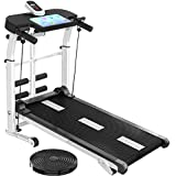 Professional Treadmills Treadmills for Home LED Display Folding Motorized Treadmill Portable Mini Running Training Shock Absorption and Incline Space Saving Running Machine with Device Holder for Ho
