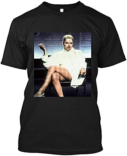 #Sharon #Stone #Iconic #Basic Instinct Sitting in Chair T Shirt Gift Tee for Men Women Unisex T-Shirt
