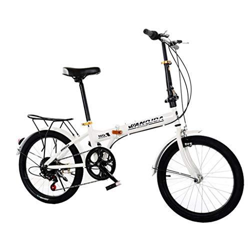 Writtian Faltrad 20 Zoll Stahl, Unisex Falt-Fahrrad,Klapprad, Klappfahrrad, leicht und robust,6 Gangschaltung Freilauf Kettenschaltung