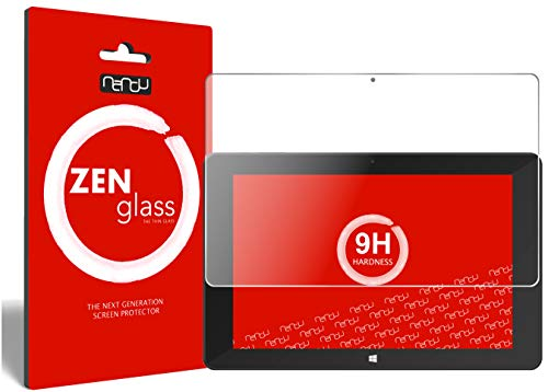 ZenGlass Flexible Glas-Folie kompatibel mit TrekStor SurfTab Duo W1 Volks-Tablet Panzerfolie I Bildschirm-Schutzfolie 9H