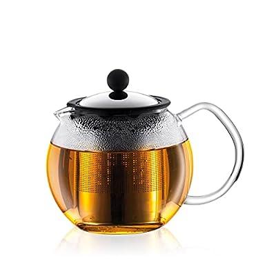 Bodum Assam Glass Tea Press with Stainless Steel Filter, 17-Ounce