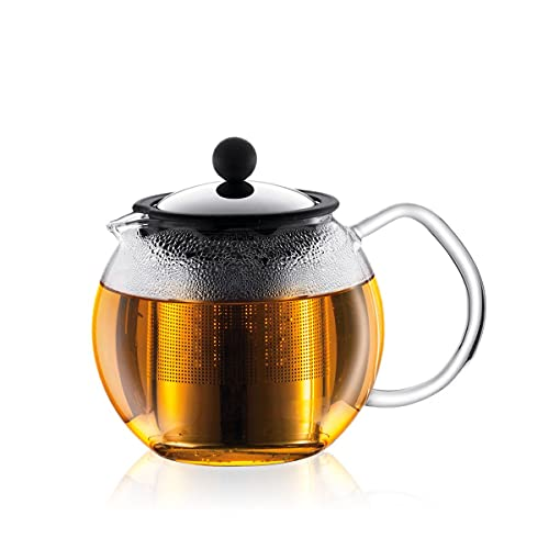 bodum tea infusers Bodum Assam Glass Tea Press with Stainless Steel Filter, 17-Ounce