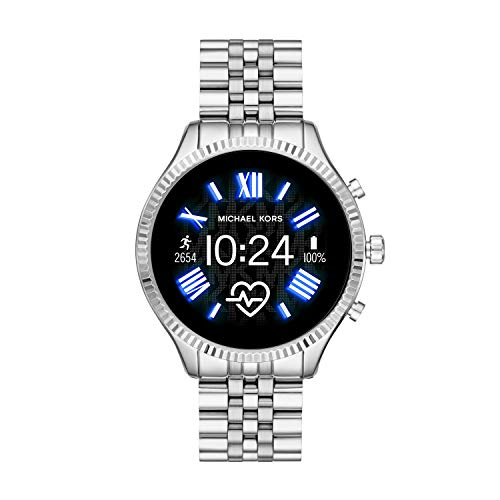 Michael Kors Access MKT5077 Smartwatch Michael Kors Dama, Extensible Acero Color Plata, Caja Color Plata, Multifuncion for Accesorios, Plata, Mujer Estándar