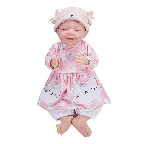 HZIXIXI Bebe Reborn Real, 18Pulgadas MuñEca Bebe Reborn Silicona - MuñEcas Bebé para NiñAs - Regalo De CumpleañOs para NiñOs