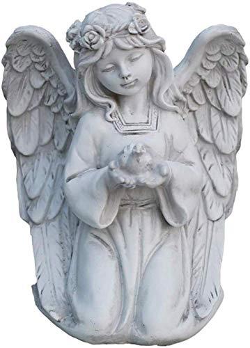 THj Adornos Jardín Escultura de Ángel Chica Ángel Diosa Estatua Resina Artesanía Adornos de jardín Vintage 17 5 * 23Cm