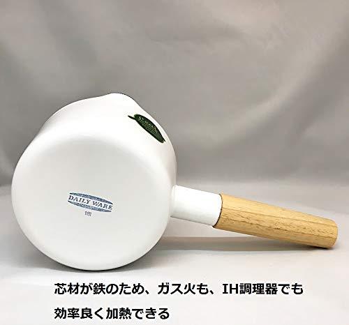 富士ホーロー片手鍋ミルクパンレッドリーフ12cmRLF-12M