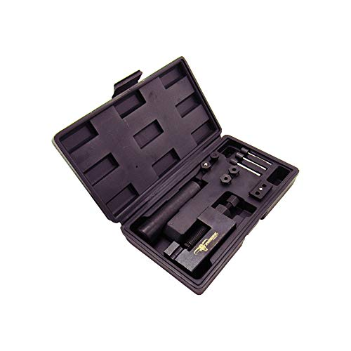 Pit Posse PP2845 Chain Breaker Motorcycle Tool Kit - 13-Piece Splitter Set - Heavy Duty Chain Cutter and Riveting Set - User-Friendly & Practical - Sturdy Design - Includes Carrying Case