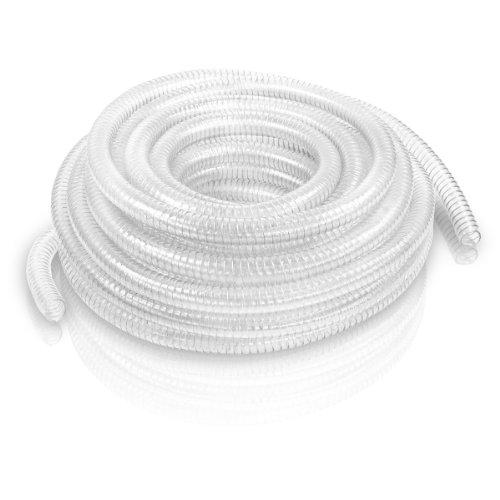 Tuyau d'aspiration de refoulement flexible spiralé avec des spirales stables en métal 1\