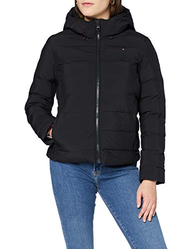 Tommy Hilfiger Damen Th Ess Seamless Sorona Jkt Jacke, Black, XL
