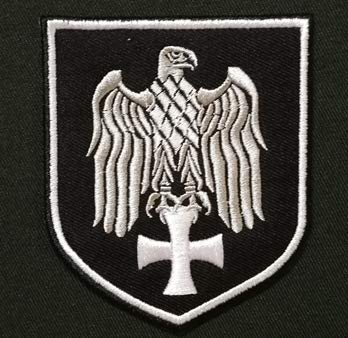 German Luftwaffe Silver Eagle Cross Military Patch Fabric Embroidered Badges Patch Tactical Stickers for Clothes with Hook & Loop
