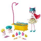 Enchantimals Baño Splash, con Muñeca Petya Pig y Sus Dos Mascotas Cerditos y Accesorios (Mattel Gjx36)
