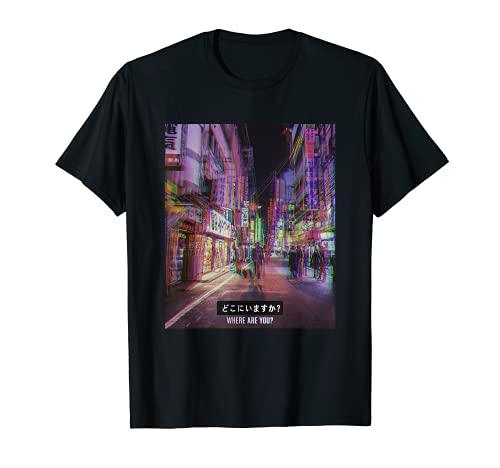 Japones Vaporwave Japanese Aesthetic E-Girl E-Boy Camiseta