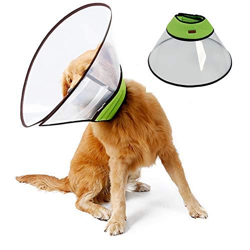 Cono Perro Mascota Cono Recuperación Collar Ajustable, Collarín, Claro Suave Mascota Cirugía Médica Recuperación E Collar con Borde Suave Y Transpirable De Plástico Anti-Bite/Lick