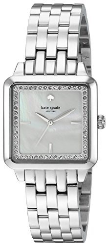 kate spade new york Women's Washington Square Analog-Quartz Watch with Stainless-Steel Strap, Silver - http://coolthings.us