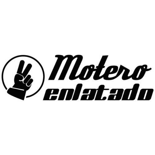 CUAC REVOLUTION Motero ENLATADO Pegatina Sticker Vinilo para EL Coche con Saludo Motero 5X15CM (Negro)