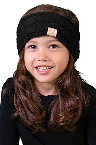 HWK-6847-06 Kids Headwrap - Black (Solid)