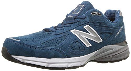 New Balance Men's 990v4 Running Shoe, North Sea/White, 11 D US