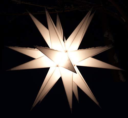 Ministern Baltasar, weiß, für innen und außen / Leuchten & Sterne / Variante: Neue Variante: Komplettset mit Trafo
