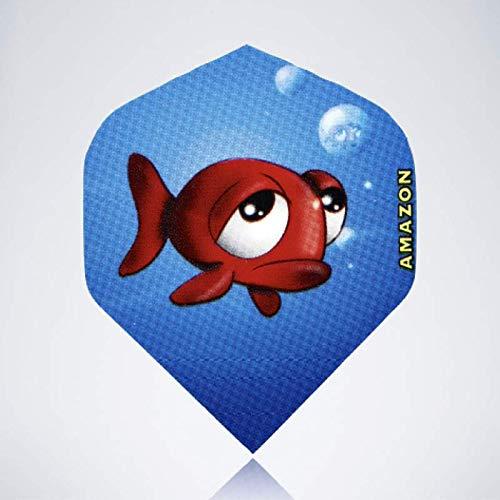 myDartpfeil Blaue Standard Dart Flights | Fisch aus Kunststoff | 3er Flight Set | Dartpfeil Flyer