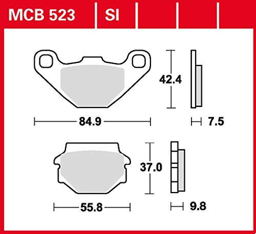 Bremsbelag TRW organischer Allround-Bremsbelag Atlantic 125 SP 03-10 hinten