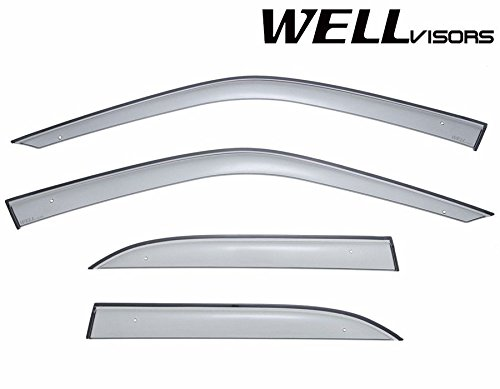 WellVisors Side Window Wind Deflector Visors - Made for and Compatible with BMW 3 Series E36 Sedan 318 320 323 325 328 M3 1992 1993 1994 1995 1996 1997 1998 Premium Series