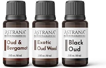 Astrana Set of 3 Oud Bergamot Exotic Oud and Black Oud Premium Grade Fragrance Oils Perfect product image