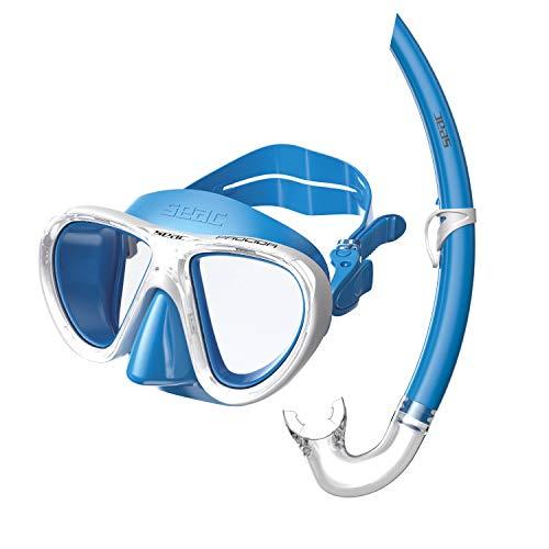 Seac Kinder Set Procida Schnorchelset Tauchset Mit Taucherbrille Und Schnorchel, blau, M