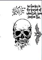スカルバット透明クリアシリコンスタンプ/DIYスクラップブッキング用シール/フォトアルバム装飾クリアスタンプシートB0107