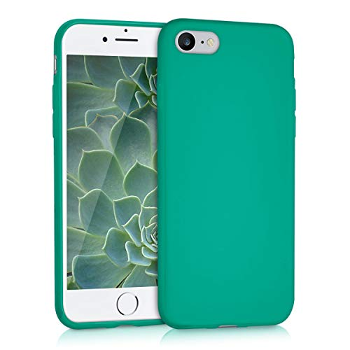 kwmobile Cover Compatibile con Apple iPhone 7/8 / SE (2020) - Custodia in Silicone TPU - Backcover Protezione Posteriore- Verde Smeraldo