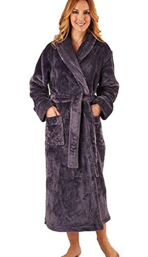 Slenderella flanel fleece sjaal kraag wrap dressing jurk