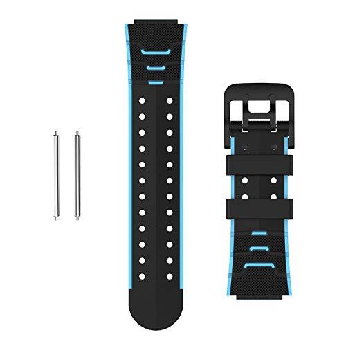Moweallarge Correa de repuesto para reloj inteligente para niños, correa de muñeca de 16 mm, correa de silicona de repuesto para X20 (azul)