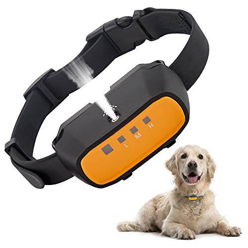 Kaiercat Citronella Dog Training Collar, (Not Include Citronella Spray) Spray Dog Bark Collar Humane Safe No Shock Anti-Bark Collar Stop Barking Rechargeable (Only Collar (No Spray))