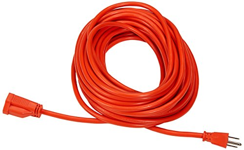 Amazonbasics 16/3 Vinyl Outdoor Extension Cord, Orange, 50-Feet