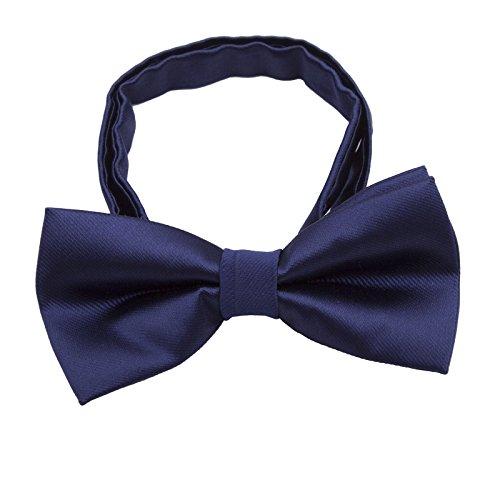 Niños Pre atado Pajaritas formales - Color sólido Ajustable Corbata de lazo de Navidad con esmoquin de seda para boda