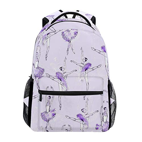 Ballet Ballerinas School Backpack Shoulder Bookbag