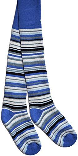 normani Kinder-Thermostrumpfhose im 3D Ringel - Design Farbe Jeans Größe 86-92