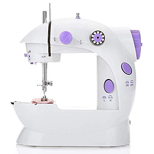 For Sale! Sewing Machine,Mini Electric Sewing Machine Portable Electric Mending Machine Electric Overlock Sewing Machines,with expansion table